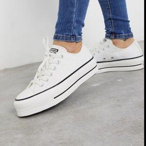 NIB Converse Lift Ox Platform Sneakers White 7.5